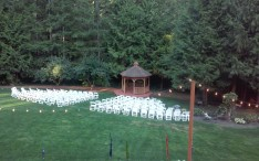 CedarWood Meadow Gazebo and chairs
