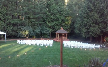 Cedarwood Meadows Gazebo & Chairs Wedding